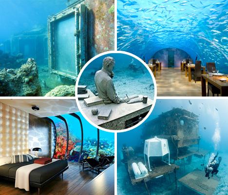 Восхитительные подводные строения