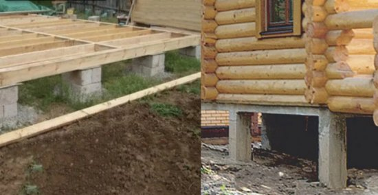 Строим столбчатый фундамент для бани своими руками