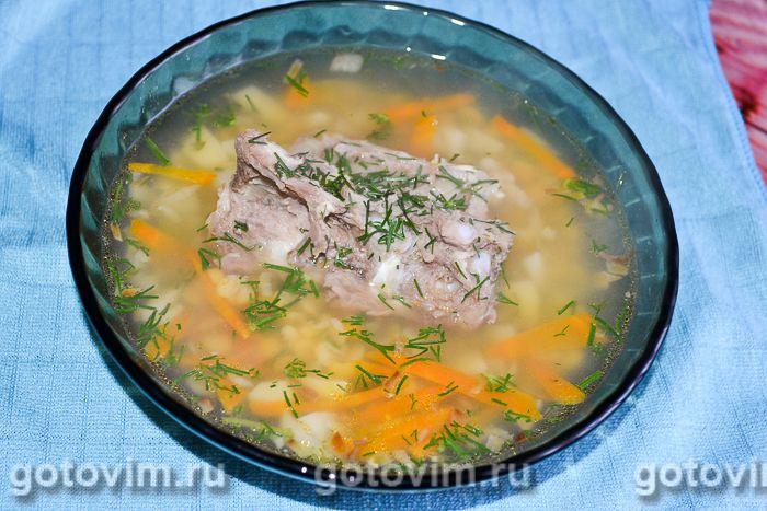 Гороховый суп на рассоле. Фотография рецепта