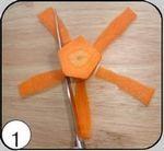 Лилия из моркови. Украшение блюд