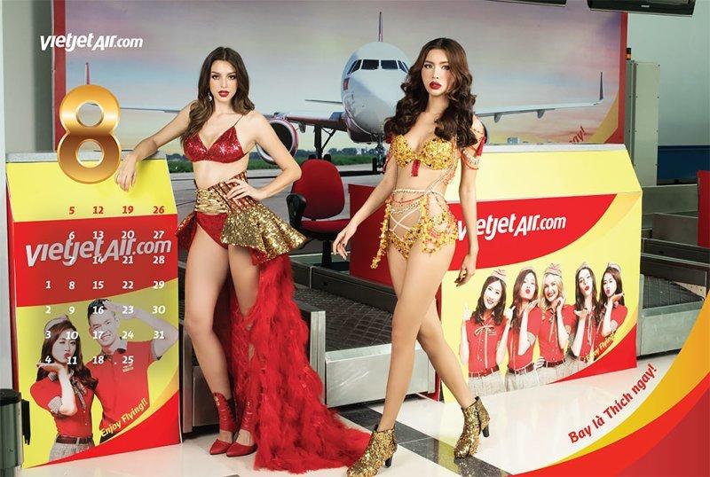 """Вьетнамская авиакомпания выпустила """"бикини-календарь"""" Вьетнам, авиакомпания, девушки, календарь, пилот, самолет, стюардесса"""