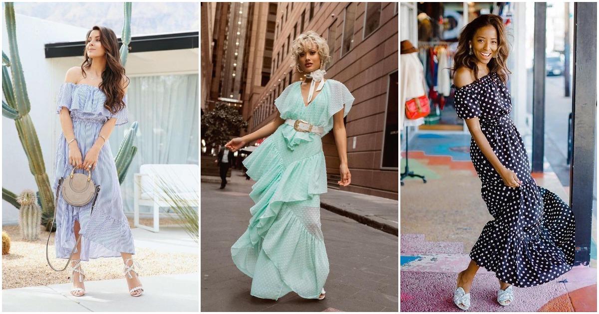 Изысканные платья макси для самых элегантных летних образов