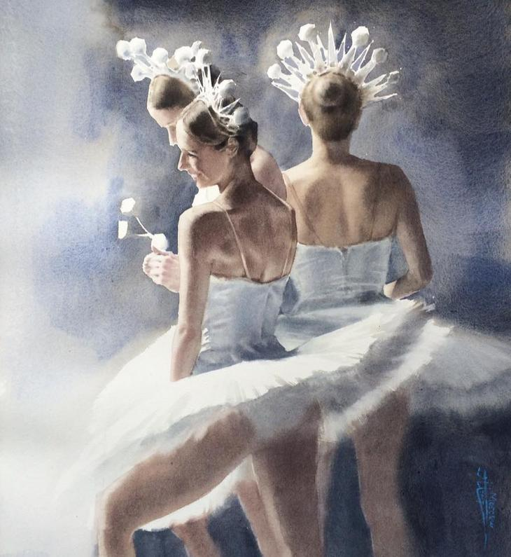 Балет в акварелях Анны Ивановой