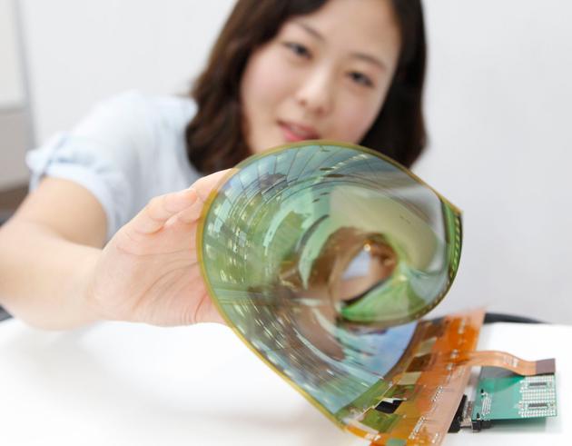 LG показала сворачиваемый дисплей
