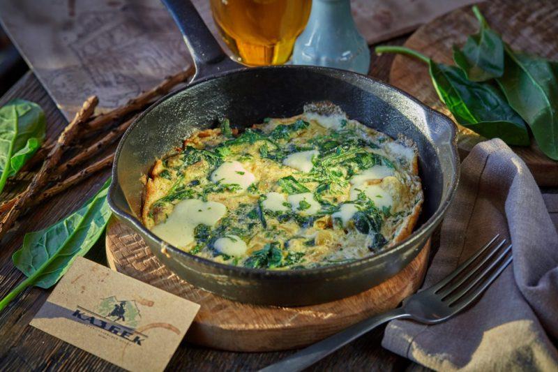 Изображение рецепта Омлет со шпинатом и сулугуни