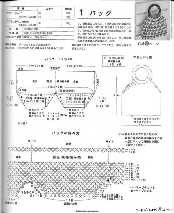 Корзинка и сумки крючком из полиэтиленовых пакетов (24) (571x700, 252Kb)