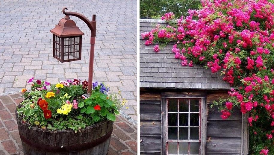 Дачный декор на зависть соседям: интересные идеи необычных композиций