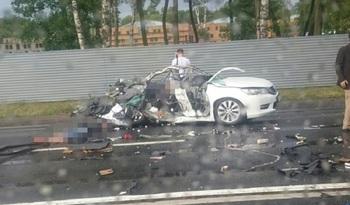 В аварии под Петербургом погиб офицер Минобороны с двумя сыновьями