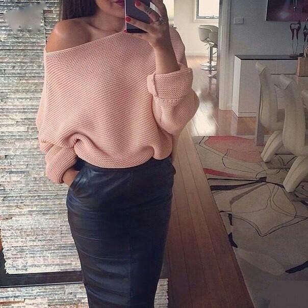Свитер+юбка: 6 идей, как носить самые модные сочетание этой осени
