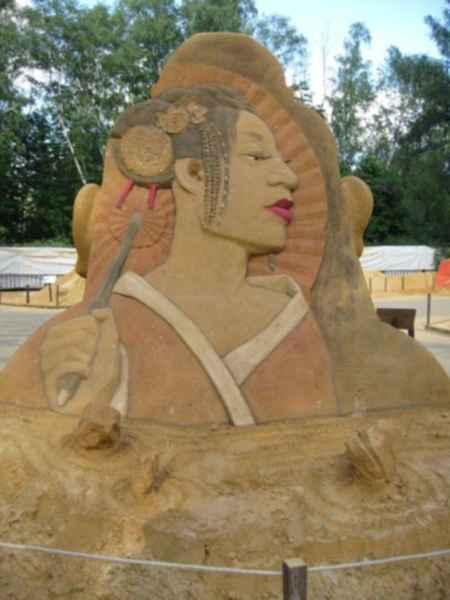 Фестиваль песчаных скульптур в Сокольниках