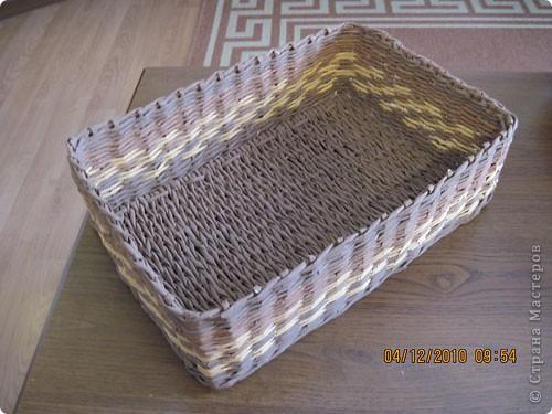Мастер-класс,  Плетение, : Плетение квадратной (прямоугольной ) коробки Бумага газетная . Фото 28
