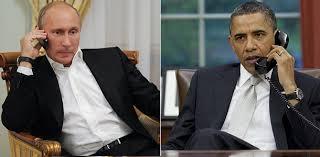 Путин заявил Обаме, что Россия может вмешаться в украинский конфликт.