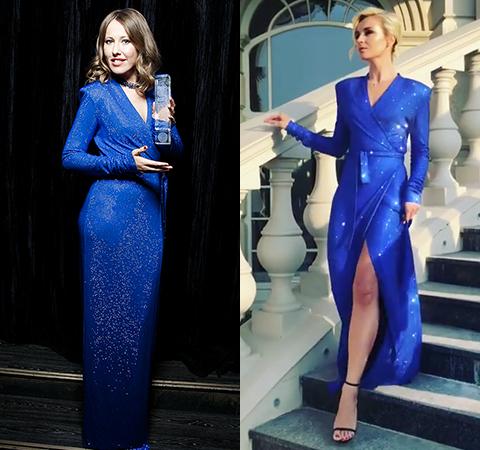 Битва платьев: Ксения Собчак против Полины Гагариной