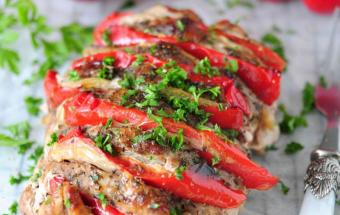 Свинина с болгарским перцем в духовке