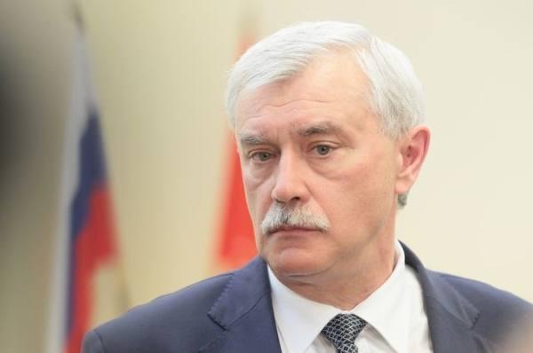 Губернатор Петербурга Полтавченко решил идти на новый срок