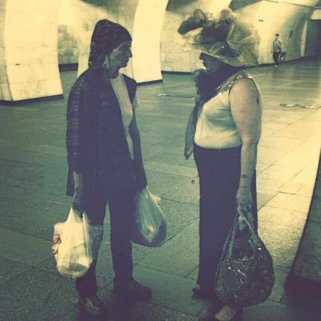 Модные люди в метро метро, мода
