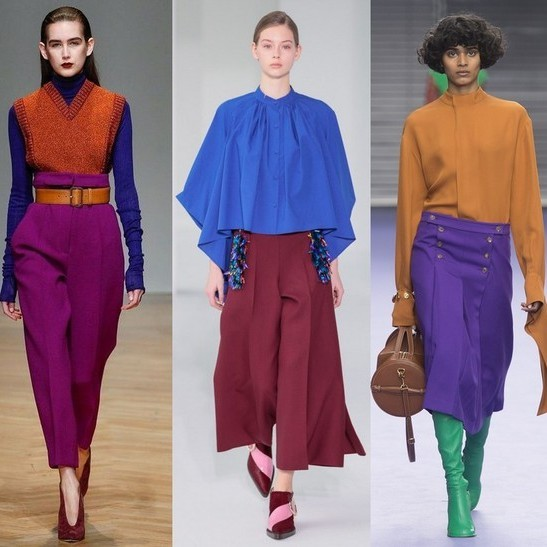 Модные цвета зима 2018-2018 в одежде