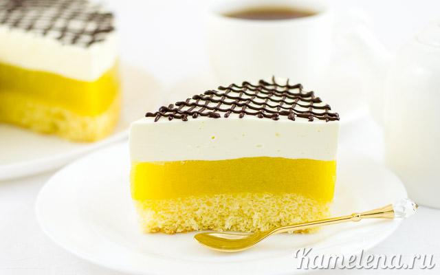 Яблочно-бисквитный торт со сливками — 13 шаг