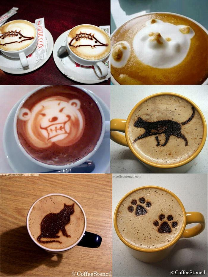 Как на кофе сделать рисунок в домашних 594