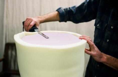 Как сделать пуфик мягкий