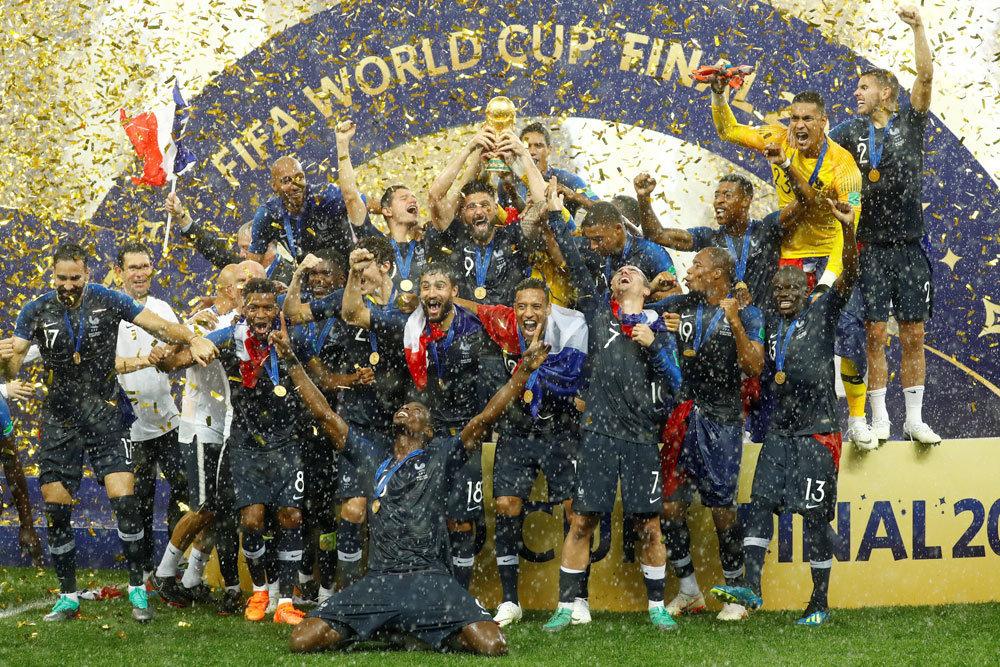 Чемпионами мира 2018 по футболу стала сборная Франции