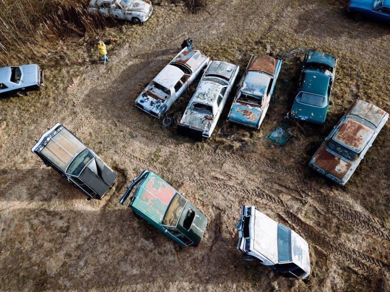 Музей ретро-автомобилей в подмосковной деревне Цыплино