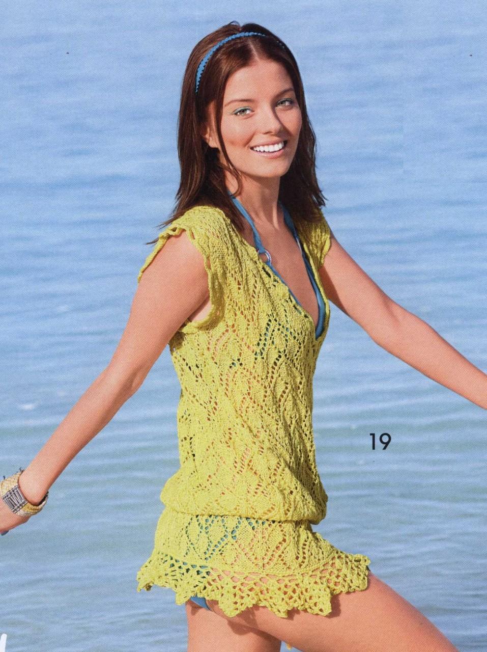 Вязание спицами на пляж