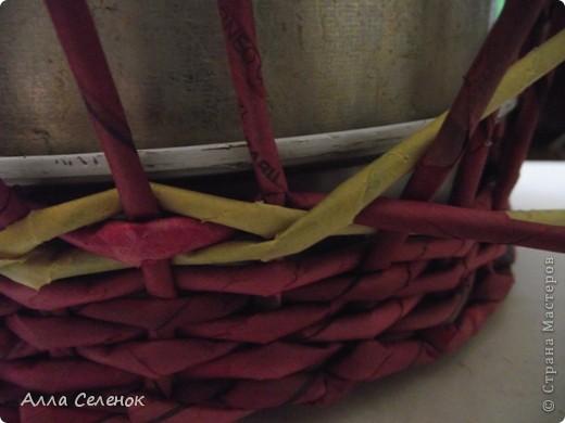 Поделка, изделие Плетение: МК.КАШПО. Бумага газетная. Фото 10