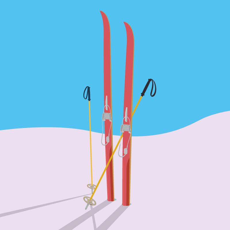Анекдот про то, как солдат домой на лыжах прибежал
