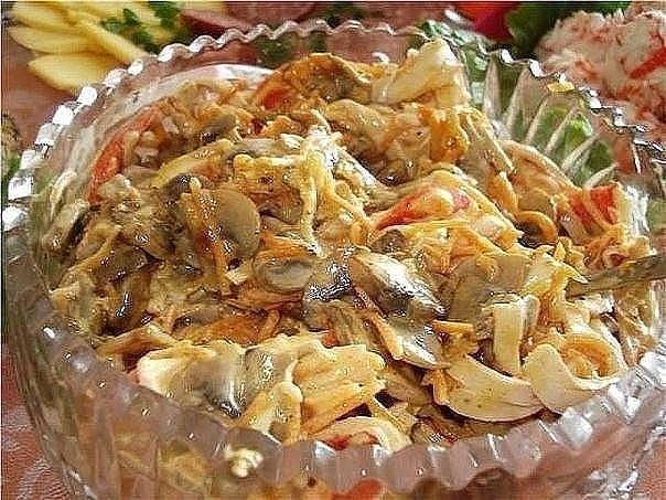 10 салатов с ГРИБАМИ!