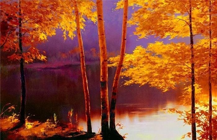 Радужные пейзажи художника самоучки.