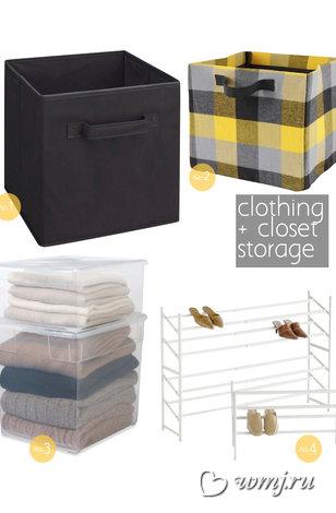 Варианты хранения одежды