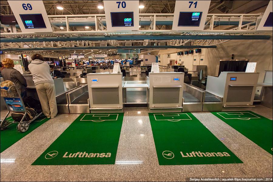 ... и вместо Lufthansa вы сегодня полетите на Fanhansa ...