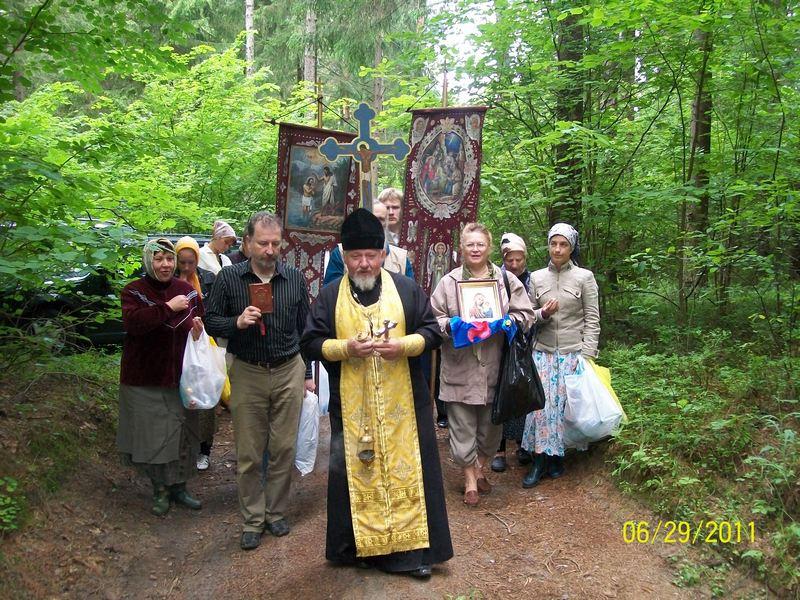 Крестный ход к источнику в Чашникском районе Витебской обл