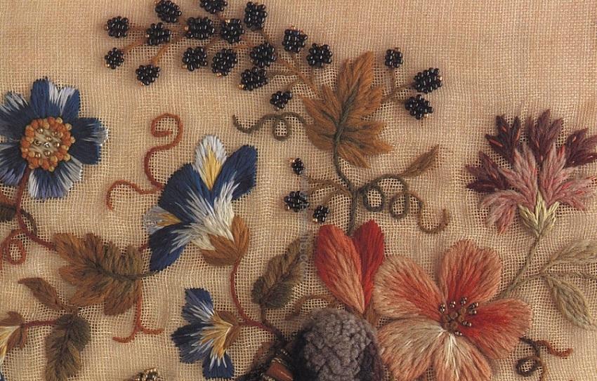 вышивка цветов гладью
