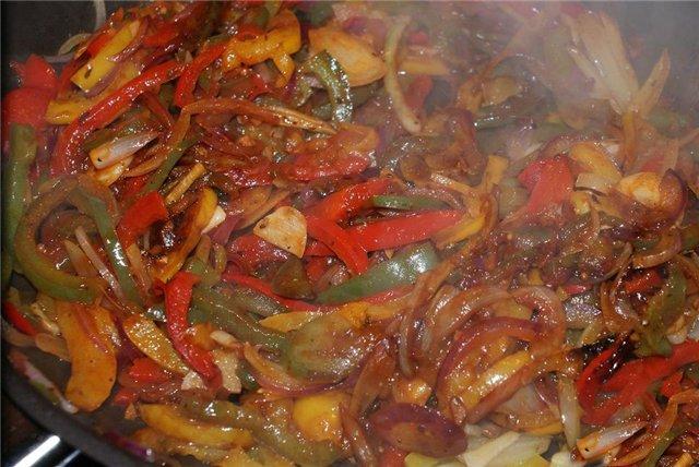 Говядина запеченная с овощами в духовке рецепт