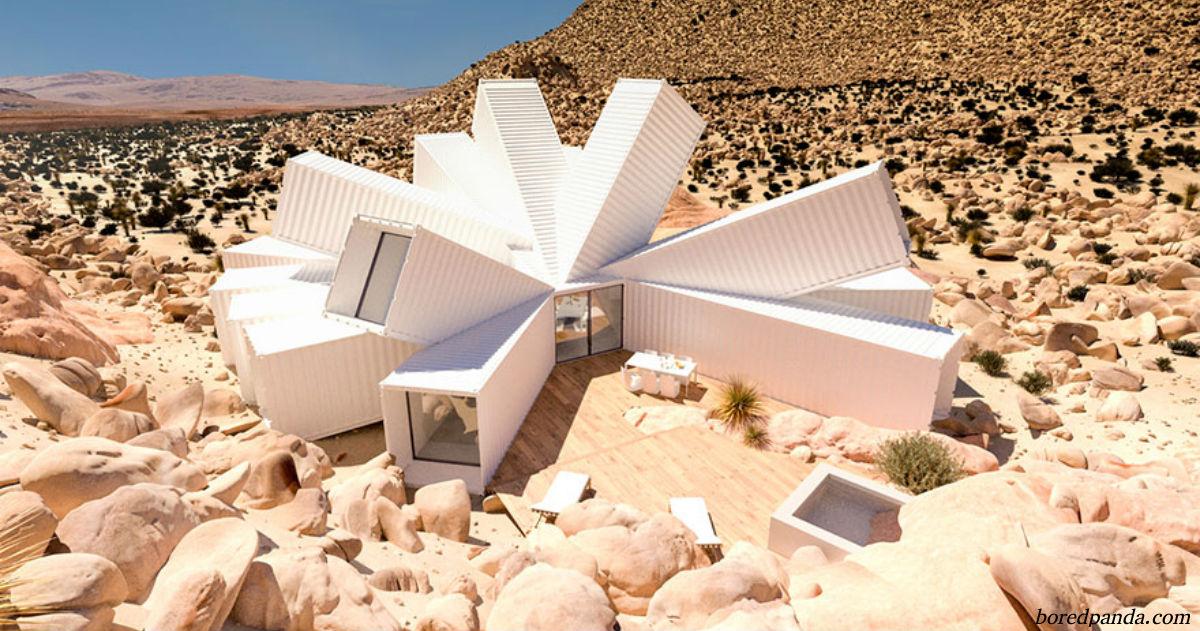 Дизайнер от Бога: архитектор построил дом из грузовых контейнеров. Изнутри выглядит потрясающе!