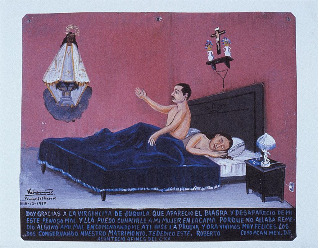 """Мексиканское народное искусство ретабло: """"Спасибо за виагру!"""""""
