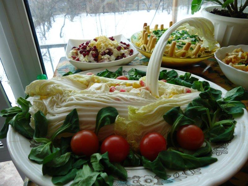 свадебный салат из краб.палочек