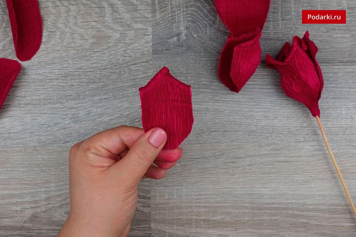 Розы из бумаги жатой как сделать