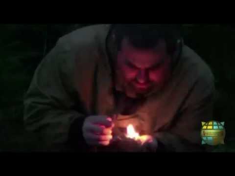 Получение огня высечением искр камнями!