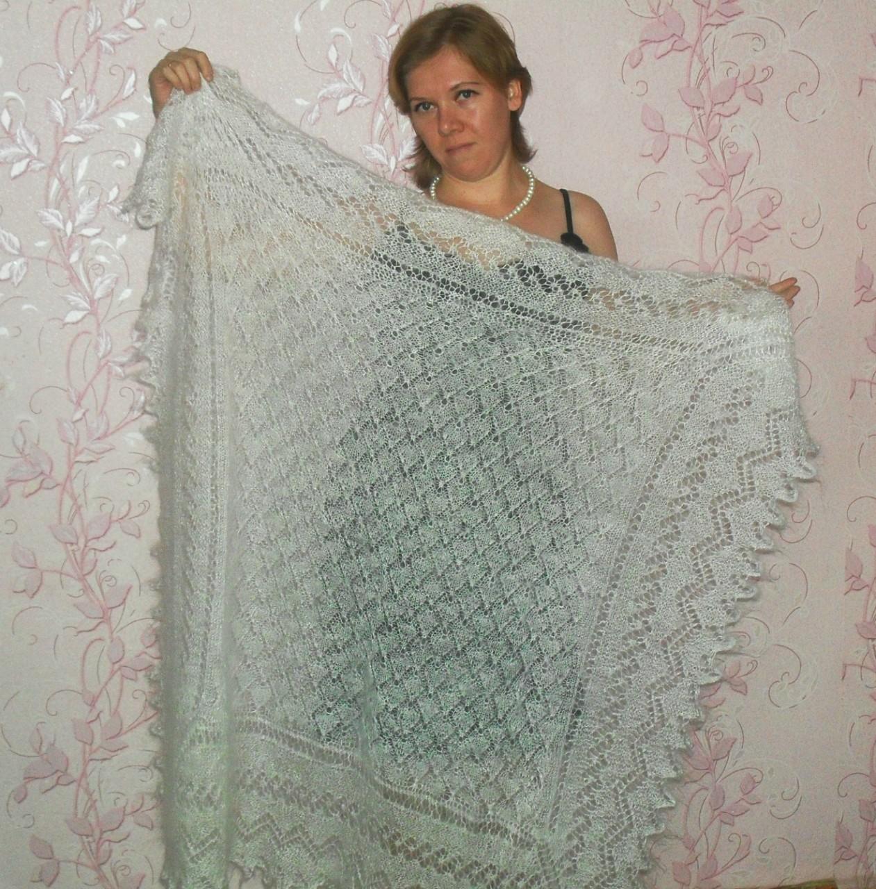 Пуховый платок -символичный подарок в год Козы