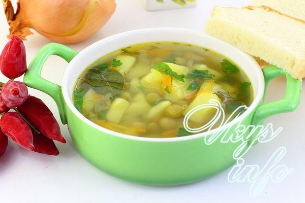 Суп с консервированным зелен…