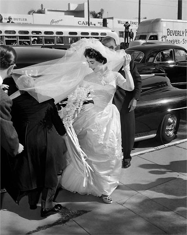 Первая свадьба Элизабет Тейлор (18 фотографий), photo:6