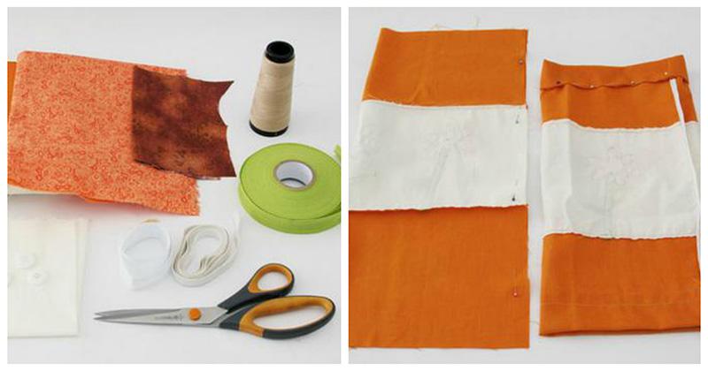 Шьем за полчаса полезную вещицу для кухни из остатков ткани