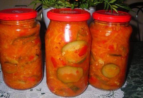 Вкусные салаты на зиму. Как заготавливать салаты на зиму....