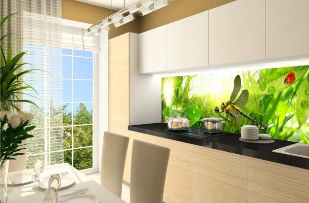 Кухня в цветах: светло-серый, белый, бежевый. Кухня в стиле минимализм.
