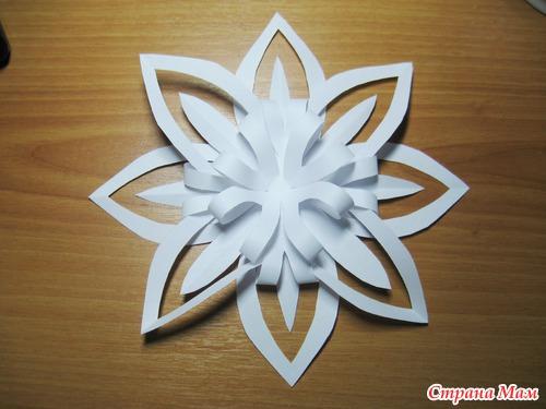 3 д снежинка из бумаги