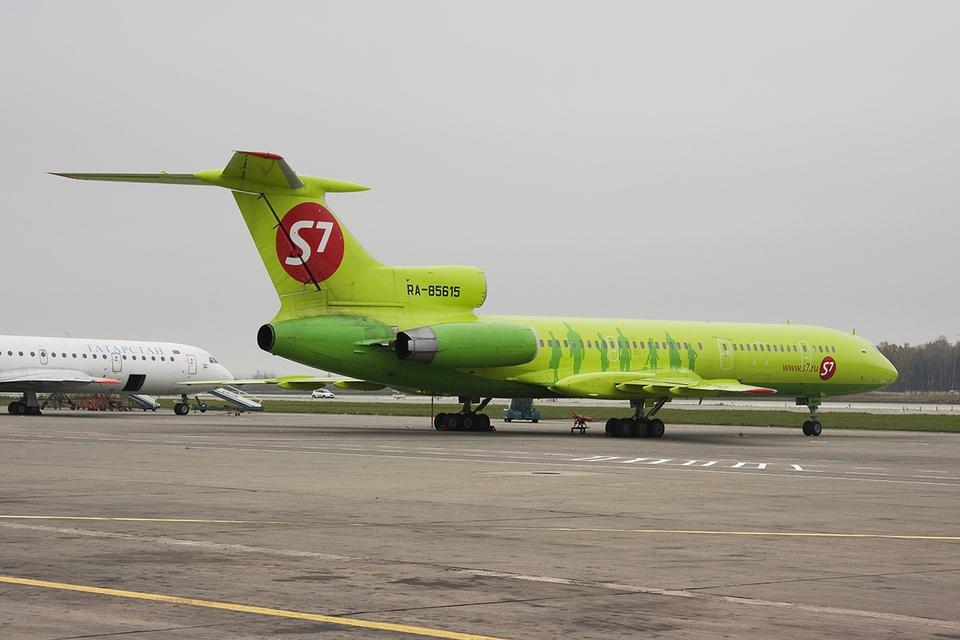 Самолет авиакомпании S7 экст…