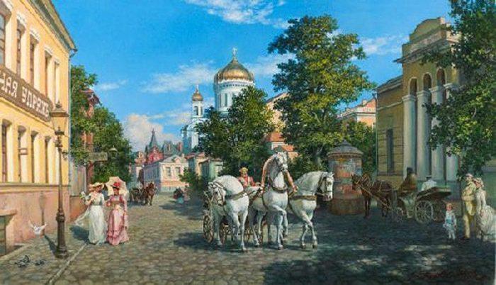 Художник Михаил Сатаров. Улицы старой Москвы